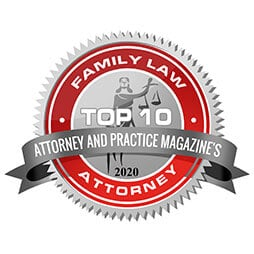 Family Law Attorney Top 10 Attorney 2020 badge