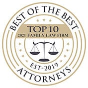 Family Law Attorney Top 10 Attorney 2019 badge